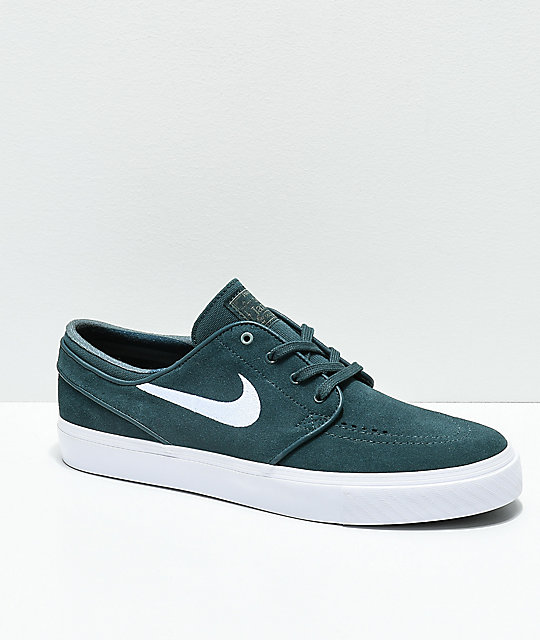 8479b05cd481 Nike SB Janoski Deep Jungle   White Skate Shoes ...