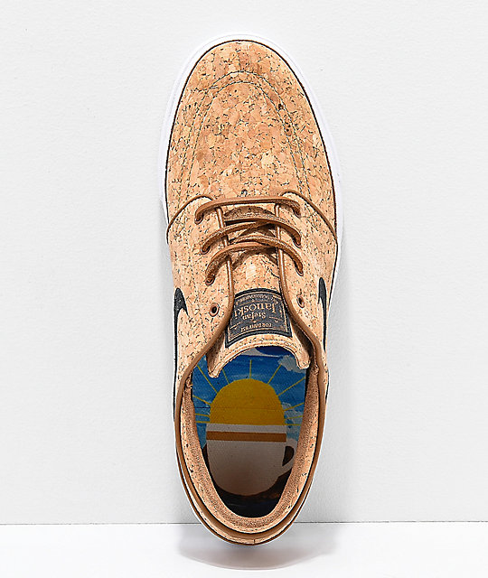 4b82e3afb9f ... Nike SB Janoski Elite Ale Brown   White Cork Skate Shoes ...
