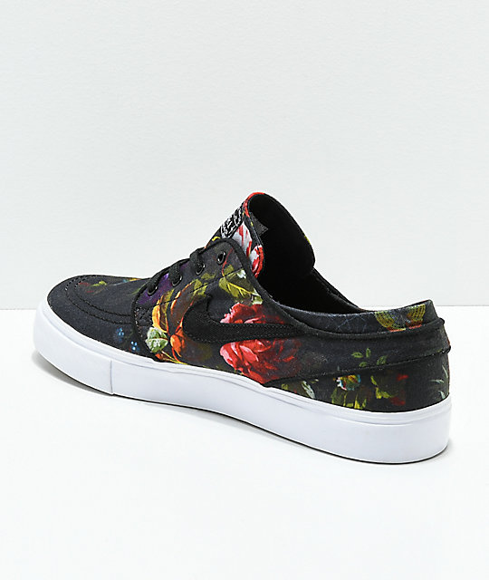 separation shoes 4c08c fcec3 ... Nike SB Janoski Floral Canvas Shoes ...