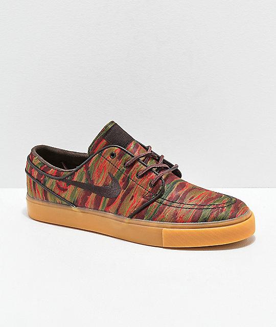 54b3256e7e34 Nike SB Janoski Guatemalan Print   Gum Skate Shoes