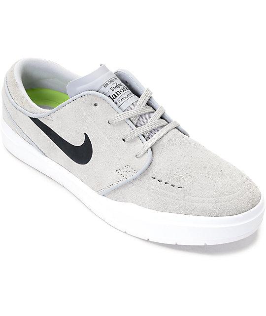 80eed289ab77 Nike SB Janoski Hyperfeel Wolf   White Skate Shoes