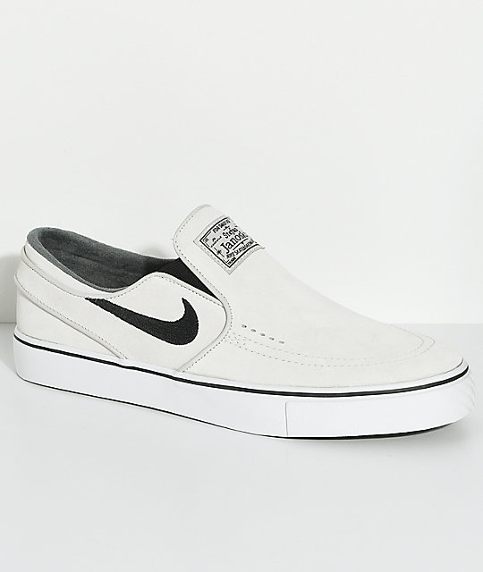 16a7e2ab2d6a Nike SB Janoski Light Bone   White Slip-On Skate Shoes