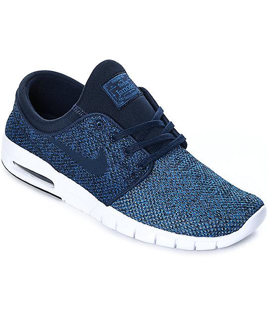 83e7b3b623d6 Nike SB Janoski Max Obsidian   White Skate Shoes