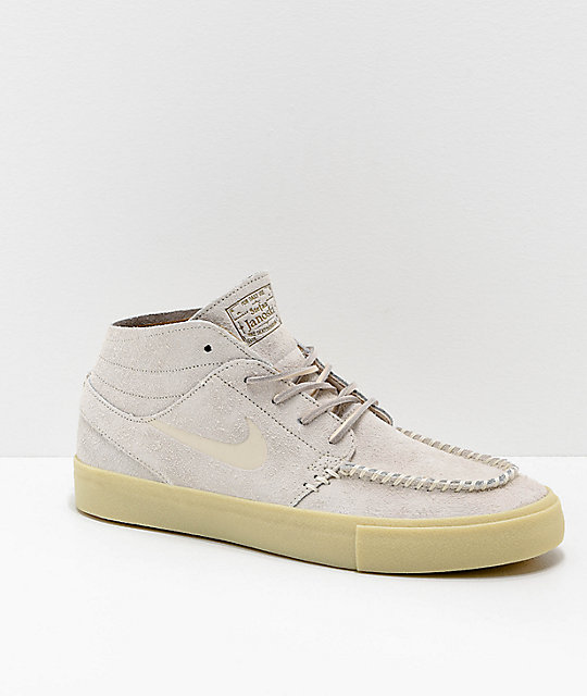 get new huge sale many fashionable Nike SB Janoski Mid Crafted Cream & Light Gum Skate Shoes