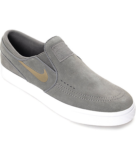 e56650979b Nike SB Janoski Midnight Fog Slip On Women s Skate Shoes