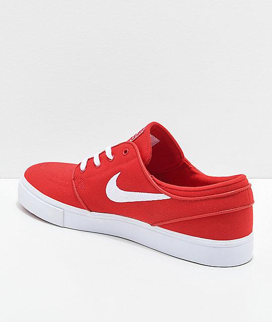 huge discount eccb0 7ecb4 ... Nike SB Janoski OG Red Canvas Skate Shoes ...