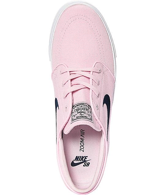 the latest 11782 39330 ... Nike SB Janoski Pink   Obsidian Skate Shoes ...