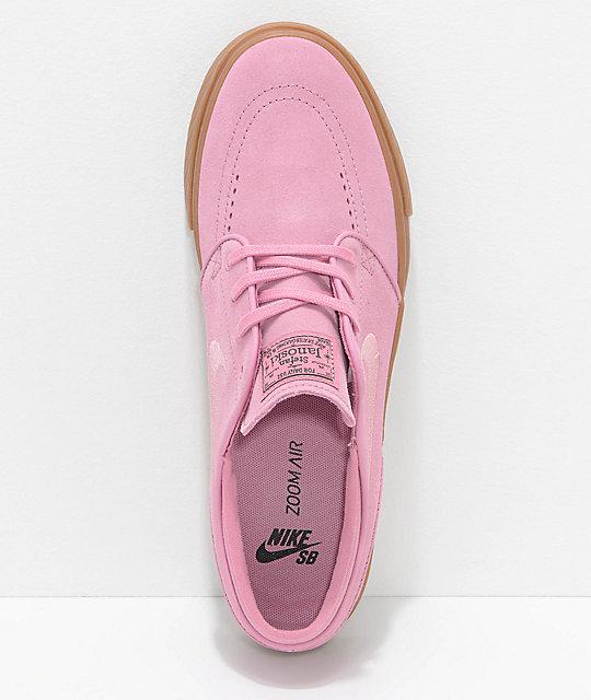 Nike Rose Janoski Et Gomme Chaussures De Skate En Daim