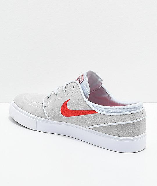 Nike Sb Janoski Mocasines De Gamuza Roja