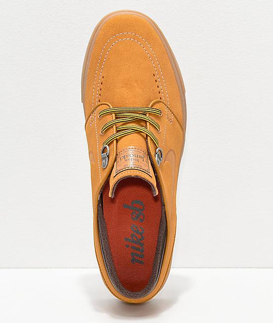 d5dadaff887a ... Nike SB Janoski Premium Bronze   Gum Suede Skate Shoes ...