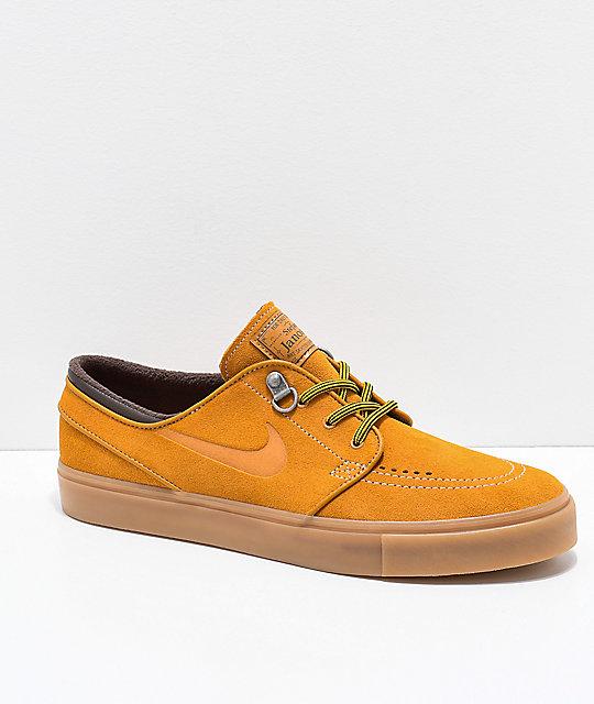 2afb42dfbf95 Nike SB Janoski Premium Bronze   Gum Suede Skate Shoes