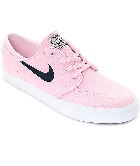 hot sale online lowest discount the sale of shoes Nike SB Janoski Prism Pink & Navy Canvas Skate Shoes