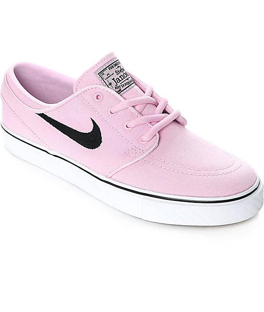 Nike SB Janoski Prism Pink Canvas Women's Skate Shoes