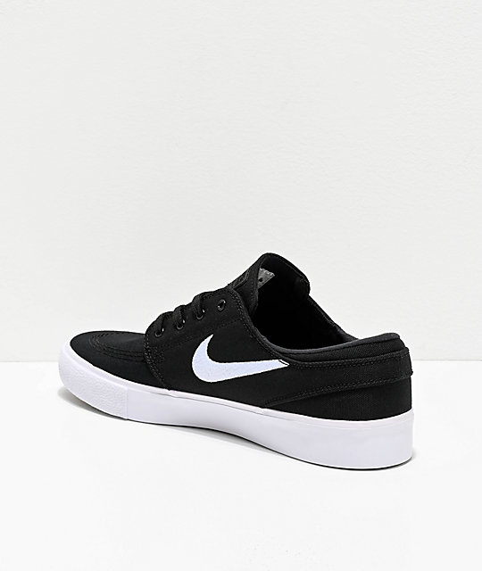 Nike SB Janoski RM Black & White Canvas Skate Shoes
