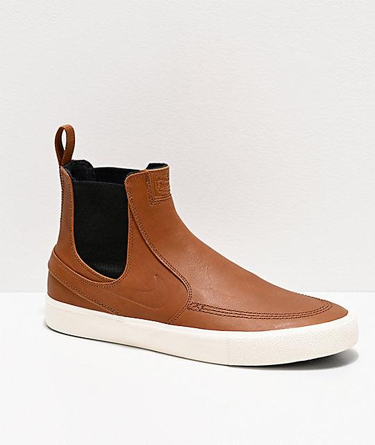 online here super cheap discount Nike SB Janoski Slip Mid RM Tan & White Skate Shoes