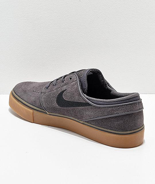 d8a1ceb6ae1008 ... buy online 67a9b 2eb9e ... Nike SB Janoski Suede Thunder Grey Gum Skate  Shoes ...