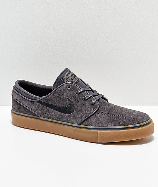 best authentic d4f70 fe6e7 caliroots com Stefan Janoski Max L Nike Source · Nike SB Janoski Suede Thunder  Grey   Gum Skate Shoes Zumiez