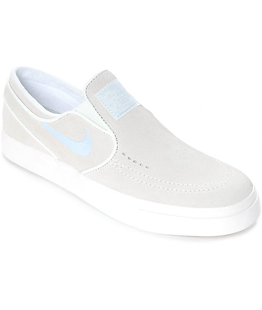 Nike SB Janoski Summit White Suede Slip On Women's Skate Shoes ...