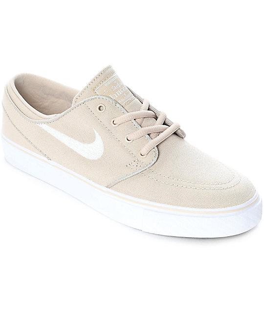 Nike SB Janoski Summit zapatos de skate de lienzo color crema para mujeres