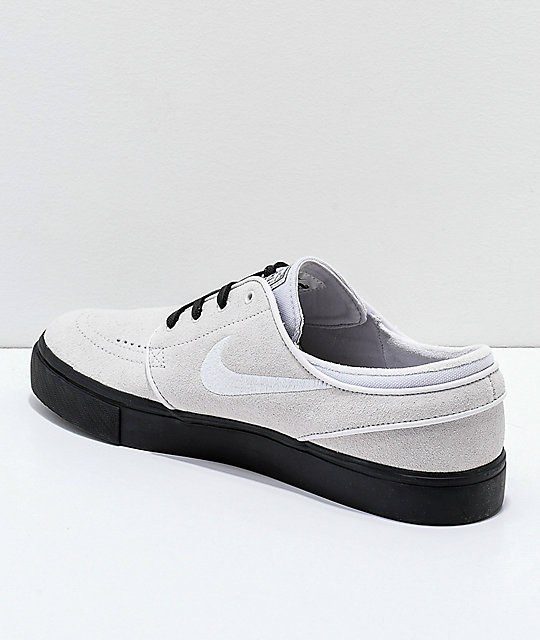 Nike SB Janoski Vast Grey & Black Suede Skate Shoes
