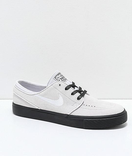 sección especial Nueva York comprar en linea Nike SB Janoski Vast Grey & Black Suede Skate Shoes