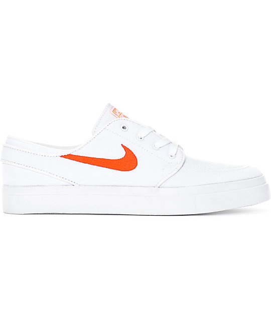super popular b6d76 eef84 ... Nike SB Janoski White   Air Max Orange Canvas Skate Shoes