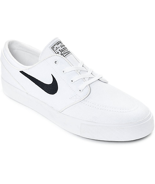 NEW Nike SB Stefan Janoski Size 10 Men's Zoom Skate Shoes White w/ blue swoosh