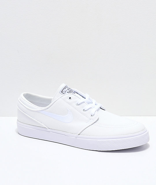 Nike SB Janoski White Canvas Skate Shoes