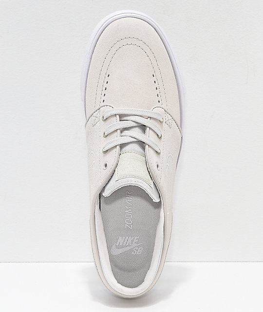 ... Nike SB Janoski White Suede Skate Shoes ...
