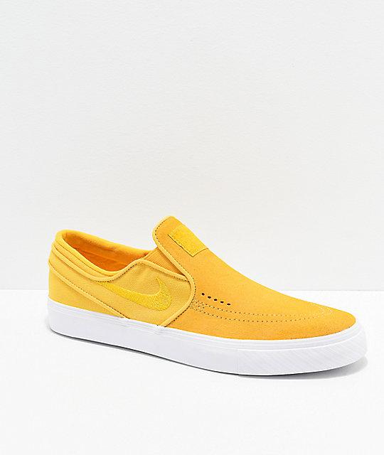 new products 66f9f 6e3bc Nike SB Janoski Yellow Ochre Slip-On Skate Shoes   Zumiez