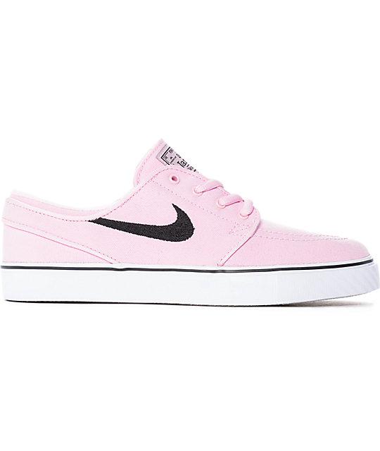Nike SB Janoski zapatos de skate de lienzo rosa para mujeres