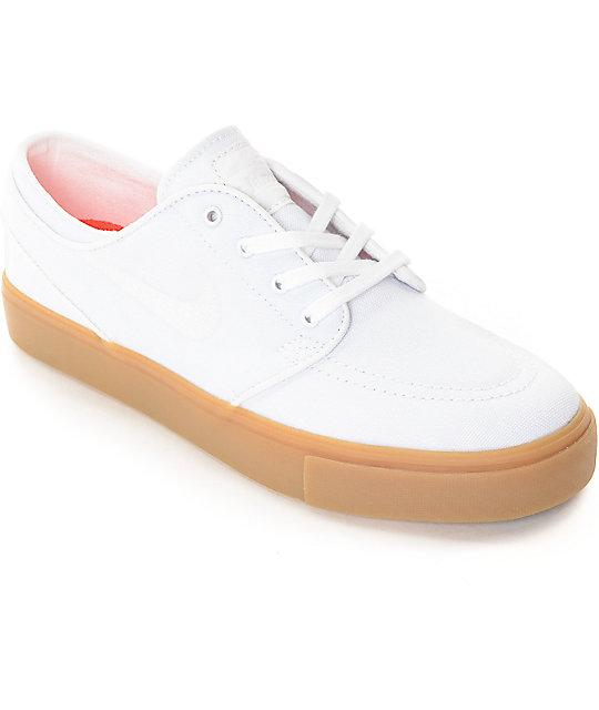 Nike SB Janoski zapatos de skate en blanco y goma (mujer)