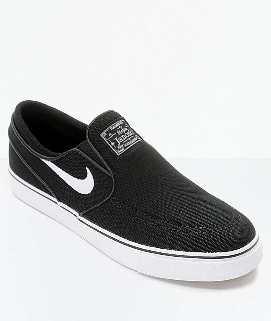 new arrivals d42d9 d664b Nike SB Janoski zapatos de skate en blanco y negro para niños ...