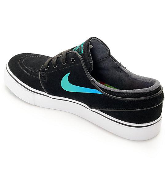 promo code 7ff45 e7b3b ... Nike SB Janoski zapatos de skate en negro y azul (mujer) ...