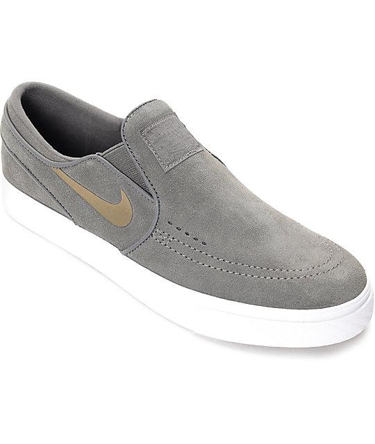 Nike SB Janoski zapatos negros de skate sin cierre para mujeres Zumiez