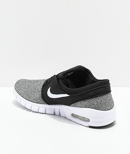 Nike SB Kids Janoski Air Max Black & Grey Skate Shoes