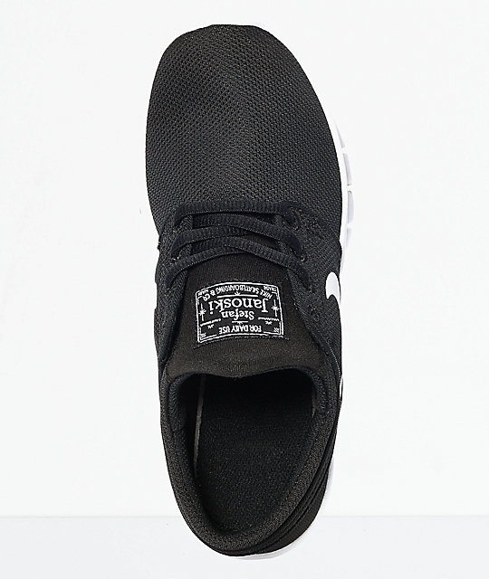 Nike SB Kids Janoski Air Max Black & White Skate Shoes