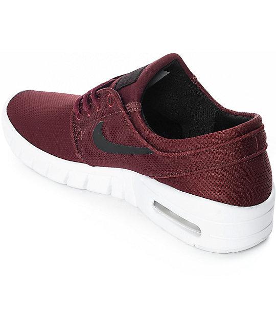 ... Nike SB Kids Janoski Air Max Dark Red Skate Shoes ... 255a8188e5ba