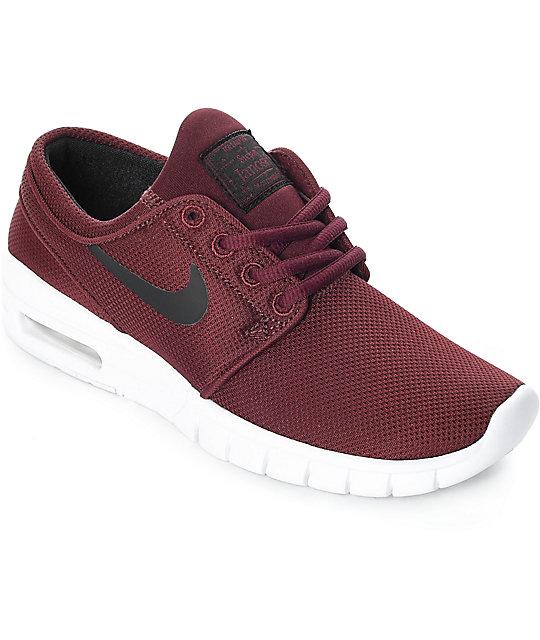 Nike SB Kids Janoski Air Max Dark Red Skate Shoes  564f9d21ee