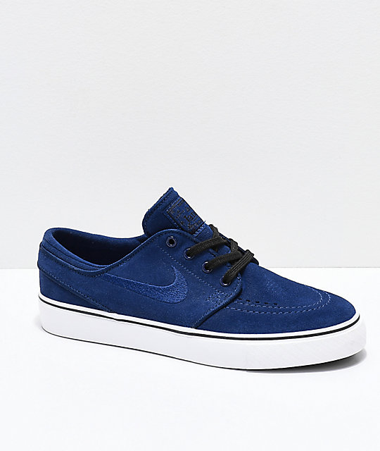 c1076696c Nike SB Kids Janoski Blue Void   White Skate Shoes