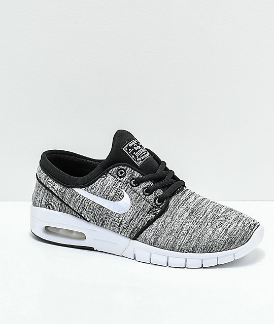 5c407e48b0 Nike SB Kids Janoski Max Heather Grey Skate Shoes | Zumiez
