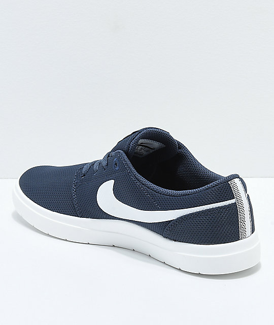 Nike SB Kids Portmore II Ultralight Thunder Blue Skate Shoes