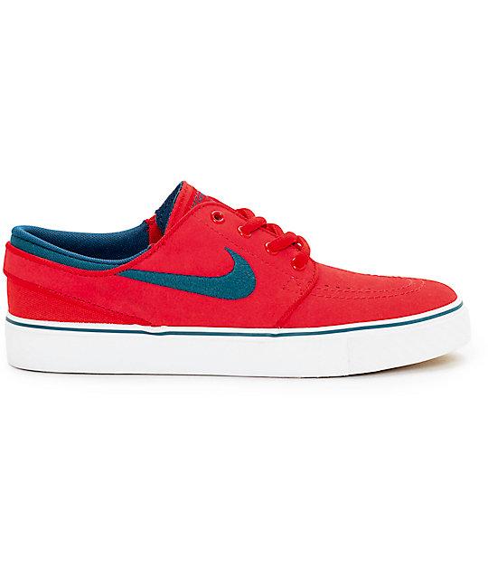 designer fashion 18b17 0a657 ... Nike SB Kids Zoom Stefan Janoski University Red Skate Shoes