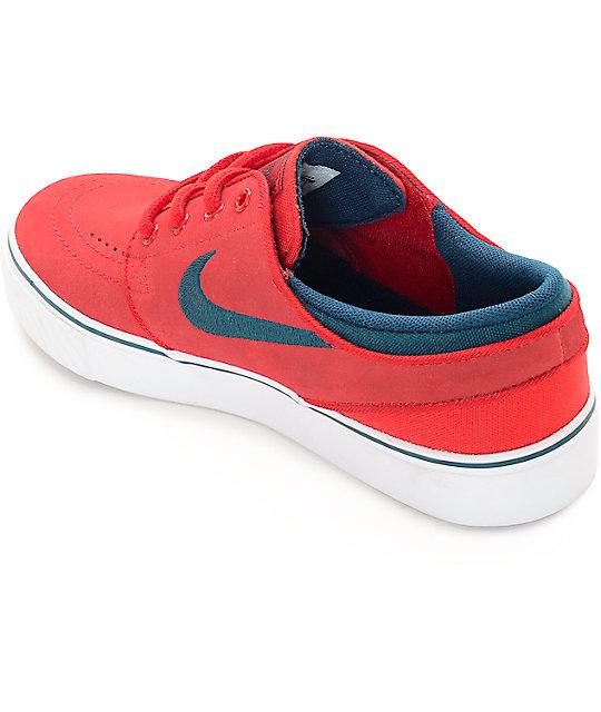 50598fedbe17 ... Nike SB Kids Zoom Stefan Janoski University Red Skate Shoes ...