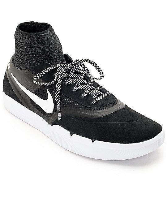 brand new 603a0 f7994 Nike SB Koston 3 Hyperfeel Black  White Skate Shoes  Zumiez