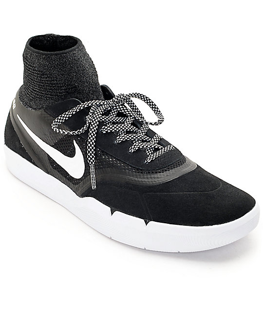la mejor actitud gran descuento venta descuento hasta 60% Nike SB Koston 3 Hyperfeel Black & White Skate Shoes | Zumiez