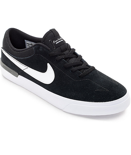 4deda6c8391 Nike SB Koston Hypervulc Black   White Skate Shoes