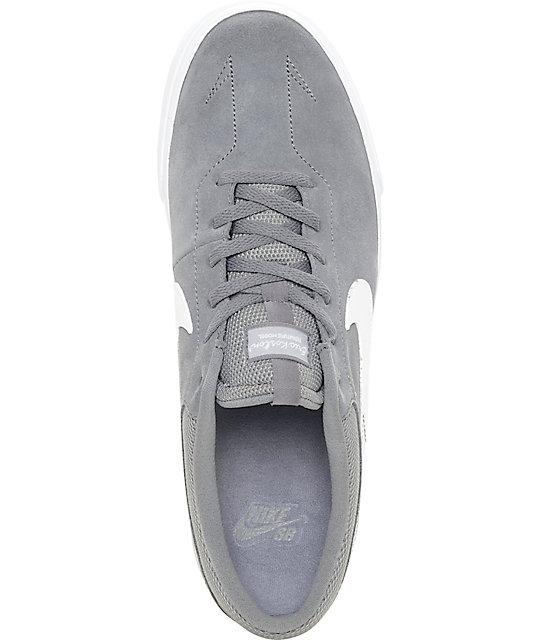 f13f59624 ... Nike SB Koston Hypervulc Cool Grey   White Skate Shoes ...