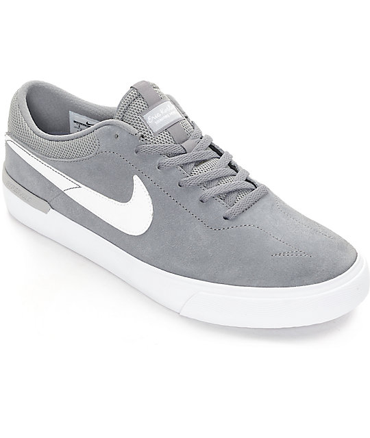 ddac4f4f20a8 Nike SB Koston Hypervulc Cool Grey   White Skate Shoes