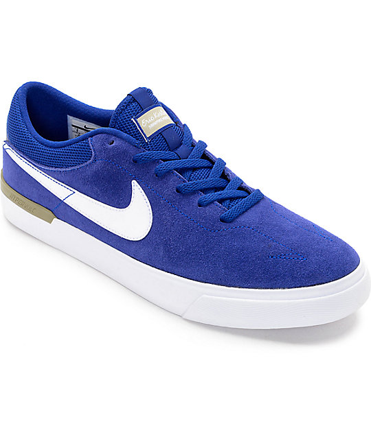 96ef589ec74521 Nike SB Koston Hypervulc Deep Royal Blue Skate Shoes